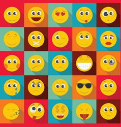 smile icon set flat style vector image