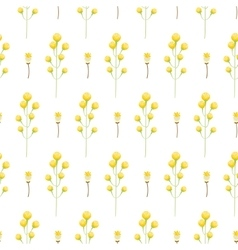 Spring wild yellow flower field seamless pattern vector image vector image
