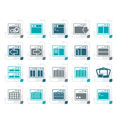 stylized application programming server vector image vector image