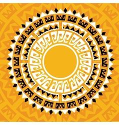 Sun madala in maya style - vector