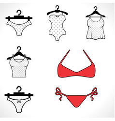 swimsuits or bikini icon vector image vector image