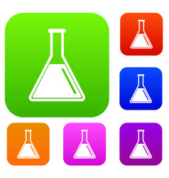 test tube with oil set collection vector image