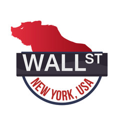 Wall street new york bear vector