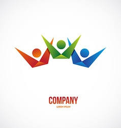 Winner people logo vector