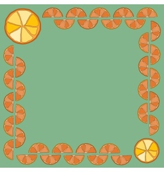 Frame made of orange slices your text in the vector image