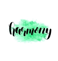 Harmony brush lettering vector