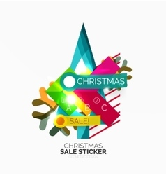 Paper christmas and new year banner vector