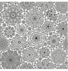 seamless pattern or template with stylized flower vector image