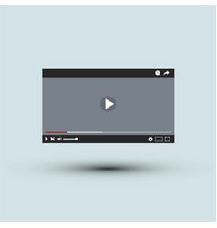 video player interface l flat design vector image
