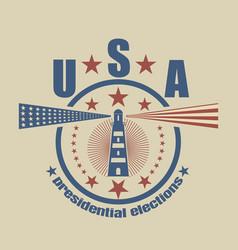 Usa presidential elections emblem vector