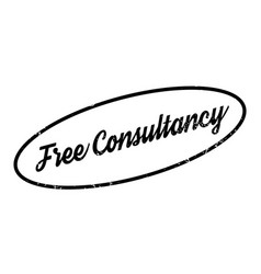Free consultancy rubber stamp vector