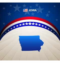 Iowa vector image