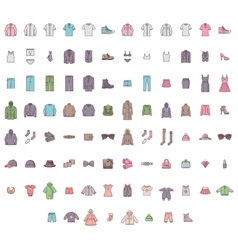 Big clothes set vector image