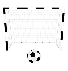 Football gate and ball vector