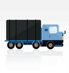 Blue trailer cartoon vector