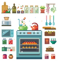 Home kitchenware vector