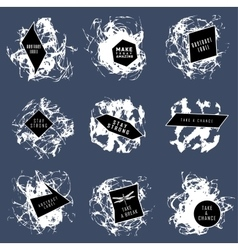 Abstract set of blobs splash labels vector