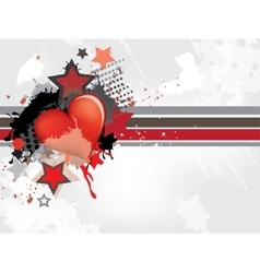 Gringe abstract background with hearts vector image