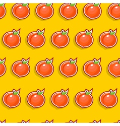 Seamless peach pattern vector
