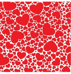 red hearts vector image