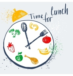 Time for lunch design element for advertising vector