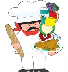 chef stack vector image