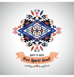 Decorative element on native ethnic style vector