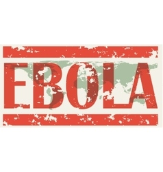 Earth with words ebola virus vector