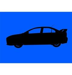 Sport sedan silhouette vector image