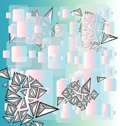 Abstract graphic background with triangles vector image vector image