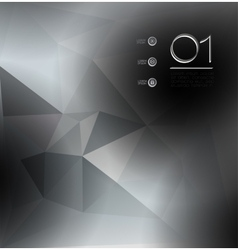 Abstract polygonal background Triangles vector image