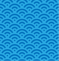 blue fish scale background of concentric circles vector image vector image