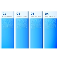 Blue presentation template vector image