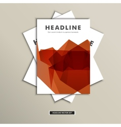 Book cover with abstract colored lines eps vector