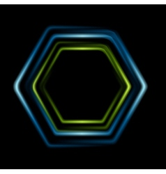 Bright abstract hexagon logo background vector