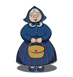 Cartoon character funny granny vector