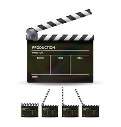 clapper board black cinema clapper vector image vector image