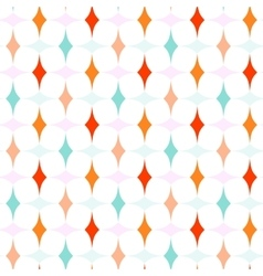 Colorful curved diamonds pattern vector