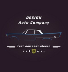 design retro classic car service sign vector image
