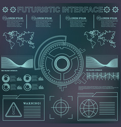 futuristic virtual graphic touch user interface vector image vector image