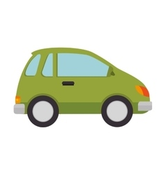 green car vehicle vector image