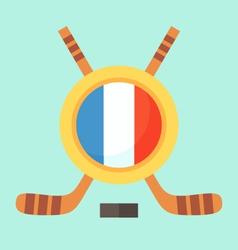 Hockey in France vector image