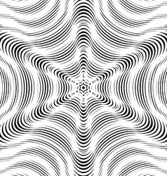 Moire pattern op art background hypnotic backdrop vector