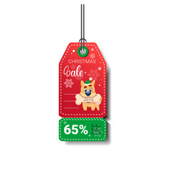 new year sale tag design holiday discount isolated vector image vector image