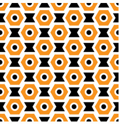 Orange black and white seamless abstract vector