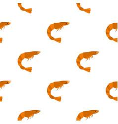 Orange shrimp pattern seamless vector