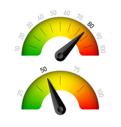 progress indicator with percentage vector image vector image