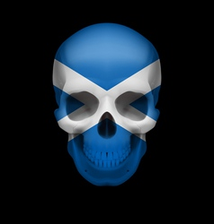 Scottish flag skull vector