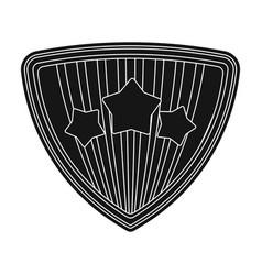 Shield single icon in black styleshield vector