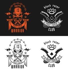 Street fighting emblem vector